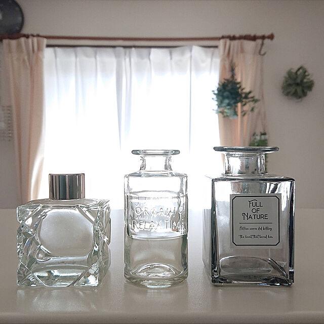 ガラス瓶,ガラスボトル,ニトリ,セリアの雑貨,瓶,プチプラインテリア,ダイソー,セリア,いいね、フォロー本当に感謝です♡,ちいさなお家,フェイクグリーン,Kitchen yukkin29の部屋
