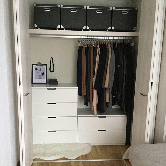 クローゼットの収納,衣替え,On Walls,IKEA mi.aの部屋