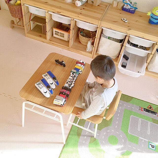 和室をキッズスペースに,和室,キッズスペース,子供部屋,トロファスト,ピエニコティ,シンプル,賃貸,子供がいる家,賃貸マンション,イケア,My Desk himaの部屋