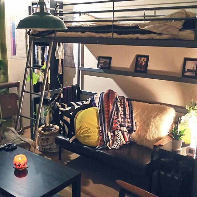ソファ,観葉植物,照明,雑貨,カフェ風,北欧,一人暮らし madolionの部屋