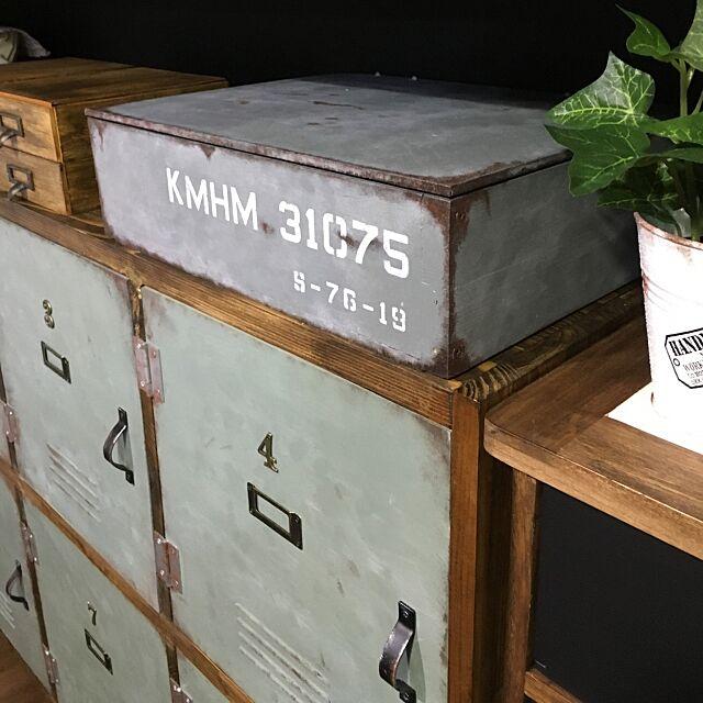 Lounge,端材DIY,木箱DIY,サビ塗装,塗装した,ブリキ風ペイント,DIY,男前 Zikenの部屋