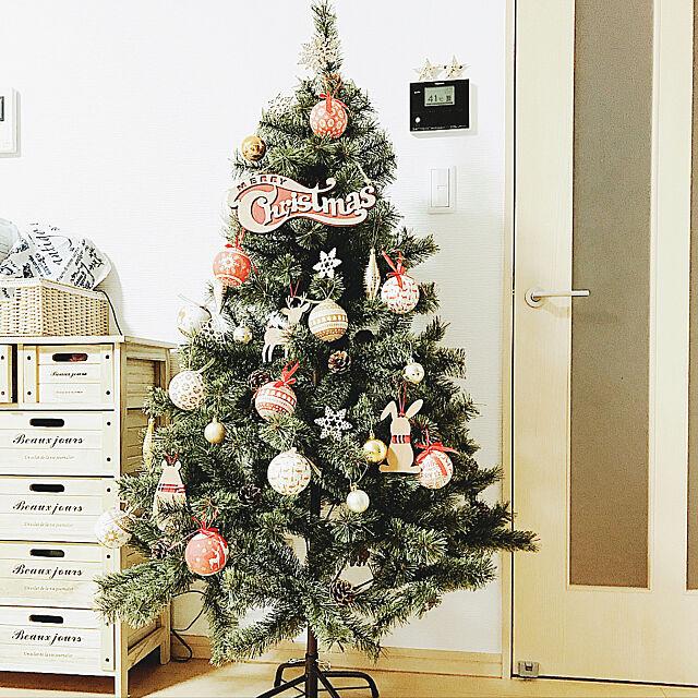 Lounge,アルザスツリー,after写真,ニトリ,ニトリ2017クリスマスモニター,クリスマスツリー,クリスマス,モニター商品,モニター当選,ドイツトウヒ,オーナメントボール punknの部屋