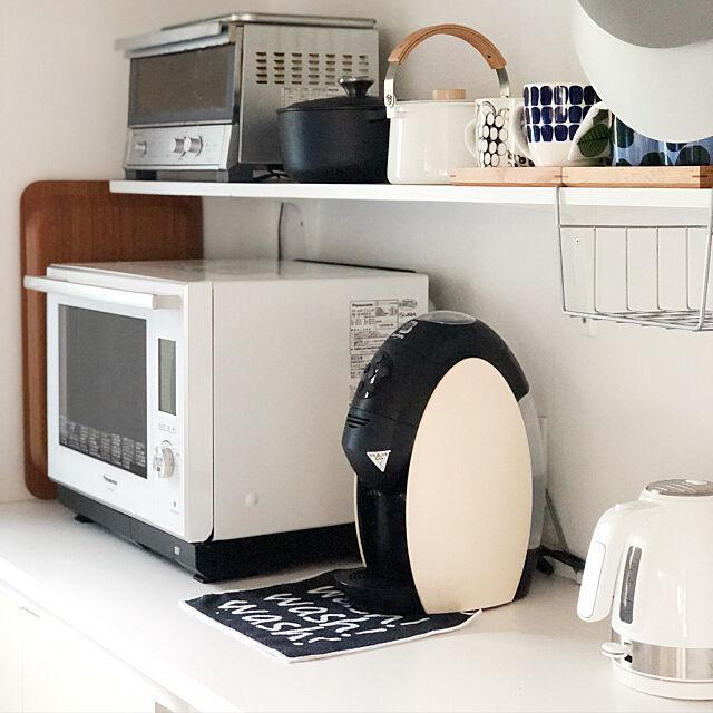 電子レンジ,パナソニックキッチン,北欧,ホワイト化,Kitchen chororiの部屋