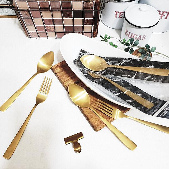 Kitchen,カフェコーナー,ダイソー,Daiso,ダイソー購入品,ダイソーパトロール,ゴールド,ゴールドカトラリー,ゴールド雑貨,カフェ風,キャニスター,キャニスター缶,スプーン&フォーク,スプーン,フォーク,パスタセット,ダイソーのスプーン,ゴールドスプーン puritan_rの部屋
