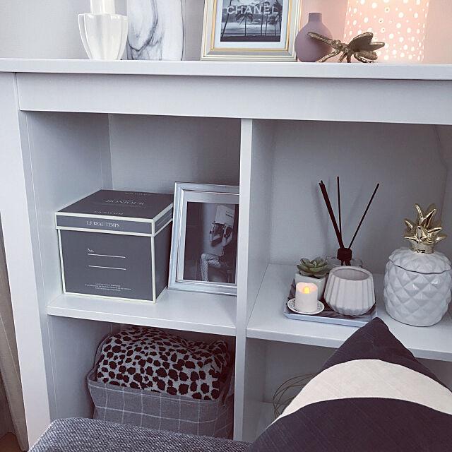 My Shelf,IKEAの棚,H&M HOME,マーブル柄,ダイソー 箱,ダイソーBOX,新商品買ったよ!,White,IKEA,白,モノトーン,ホワイト×グレー,ニトリ,海外インテリアに憧れる,ナチュラル,グレー lilyの部屋