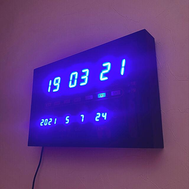 デジタル時計,ニトリ,介護してても素敵な家にしたい,RCの出会いに感謝♡,フォロー&いいね ありがとうございます♡,自宅スタジオ,男前インテリア,防音室 diy,On Walls ray55の部屋
