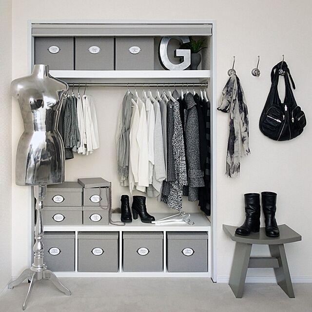 Bedroom,衣類収納,シンプルモダン,シンプルライフ,白黒グレー,MONOTONE,白黒インテリア,白黒マニア,モノトーン収納,白黒,モノトーン,収納,白黒収納,見せる収納,IKEA tuuliの部屋