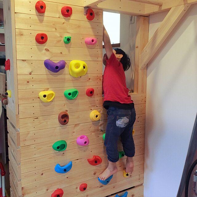 Overview,DIY,こども部屋,ボルダリング,SPF材,雲梯,ロフトベッド Ryuandnattyanの部屋