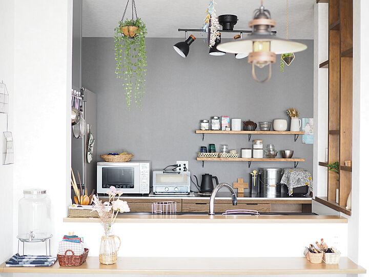 「眺めも使い勝手も整う、ヴィンテージ×北欧のカフェ感キッチン」 by mi___yuさん