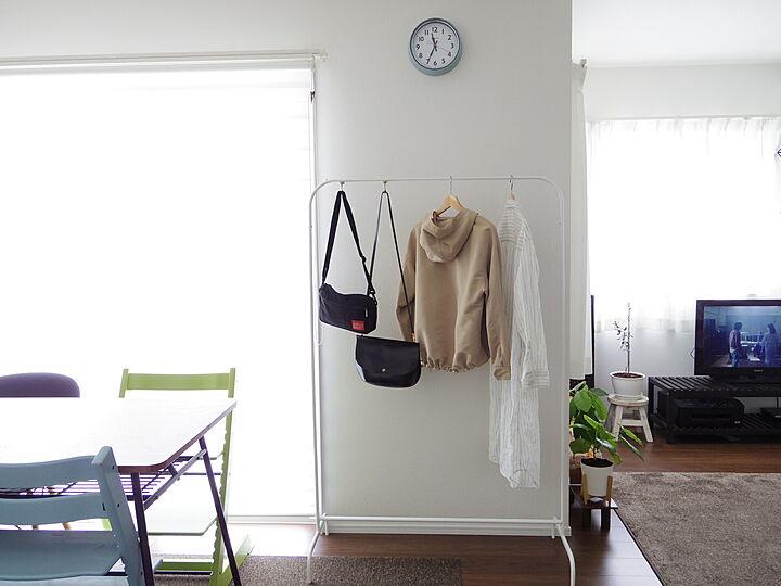 「収納を充実させる、シンプルなIKEAの衣類用ラック」 by Shinohazuさん