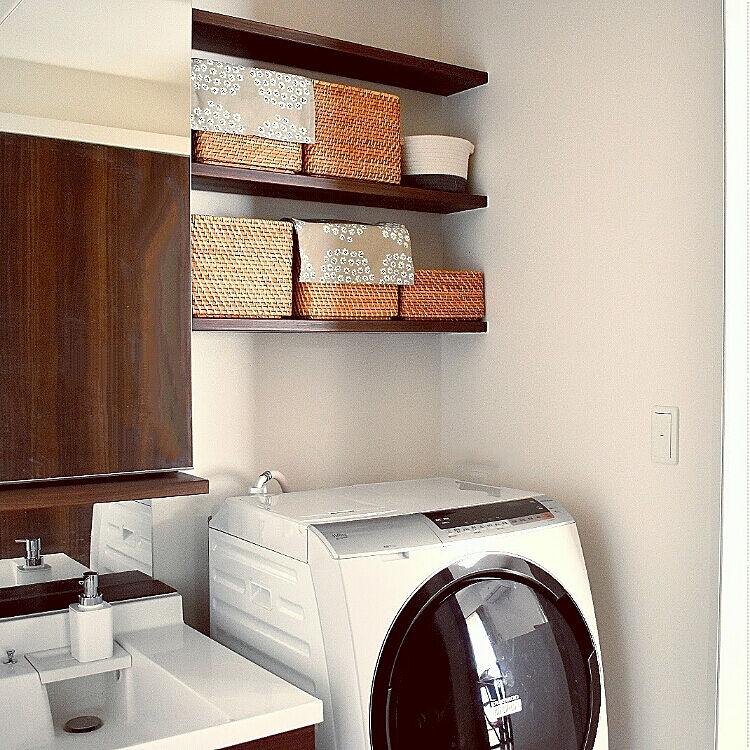 センスよく使いやすく♪ニトリのアイテムで洗濯機まわりインテリア