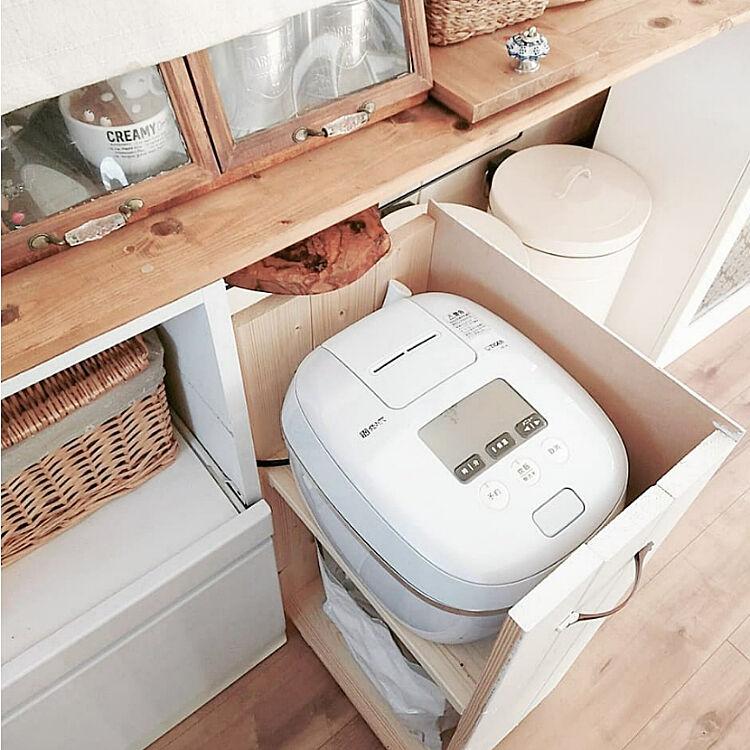 我が家はココに置いてます♡炊飯器・レンジの置き場所10選